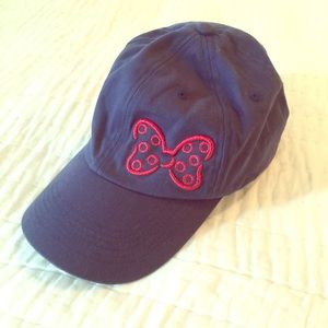 Disney Parks blue cap with pink bow